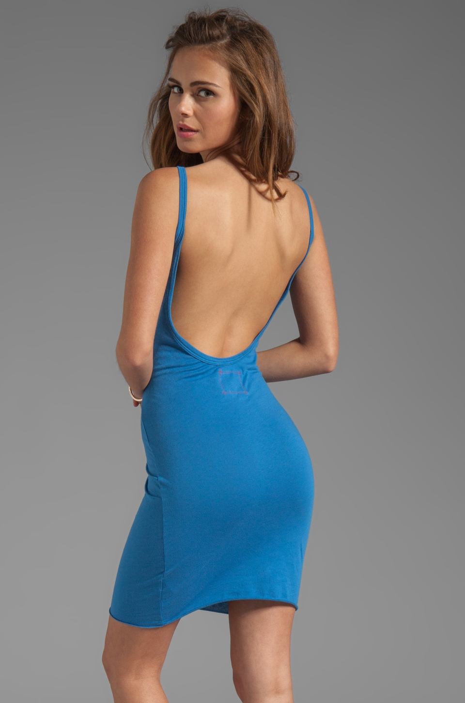 Daftbird Low Back Slip Tank in Bluebird