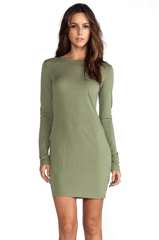 Daftbird Long Sleeve Mini Dress in Sage