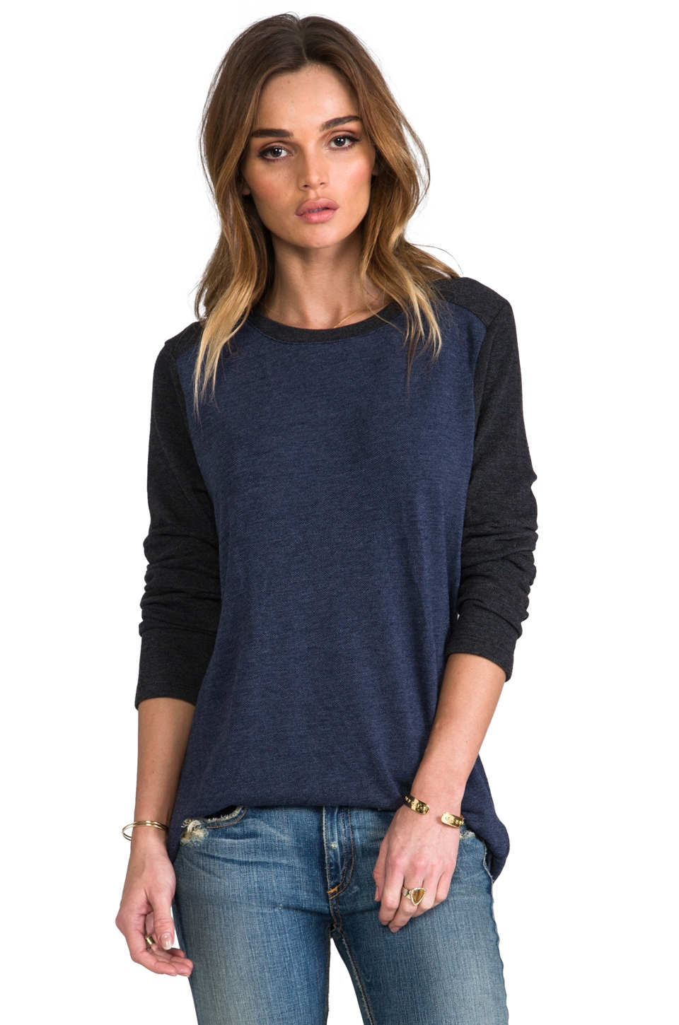 Daftbird Raglan Long Sleeve in Yankee