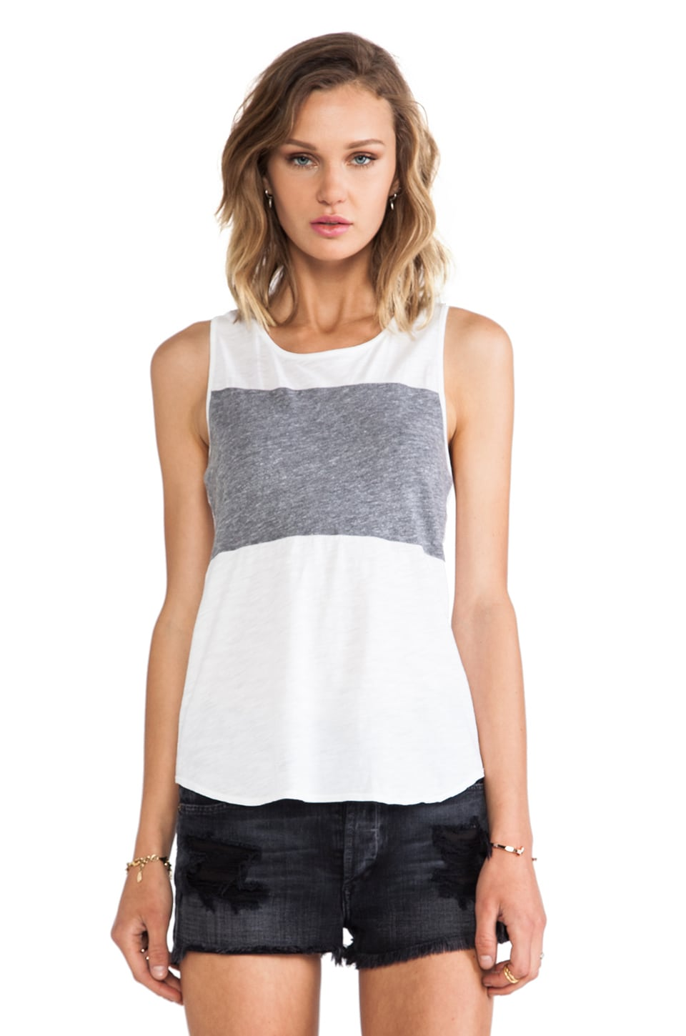 Daftbird Stripe Tank in White