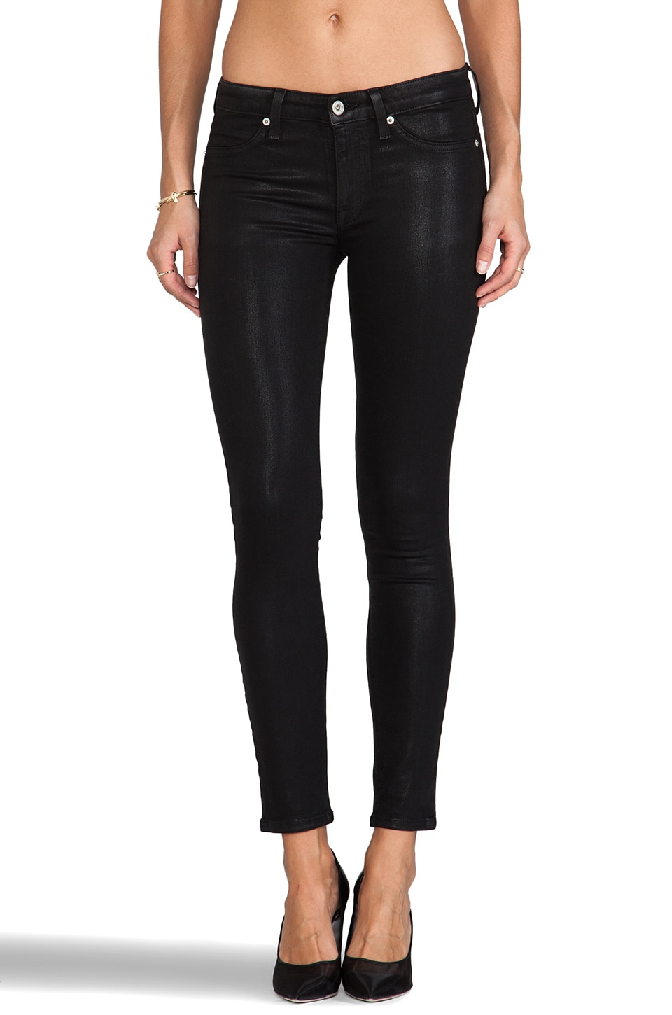 Dakota Collective Khloe Skinny in Coated Black