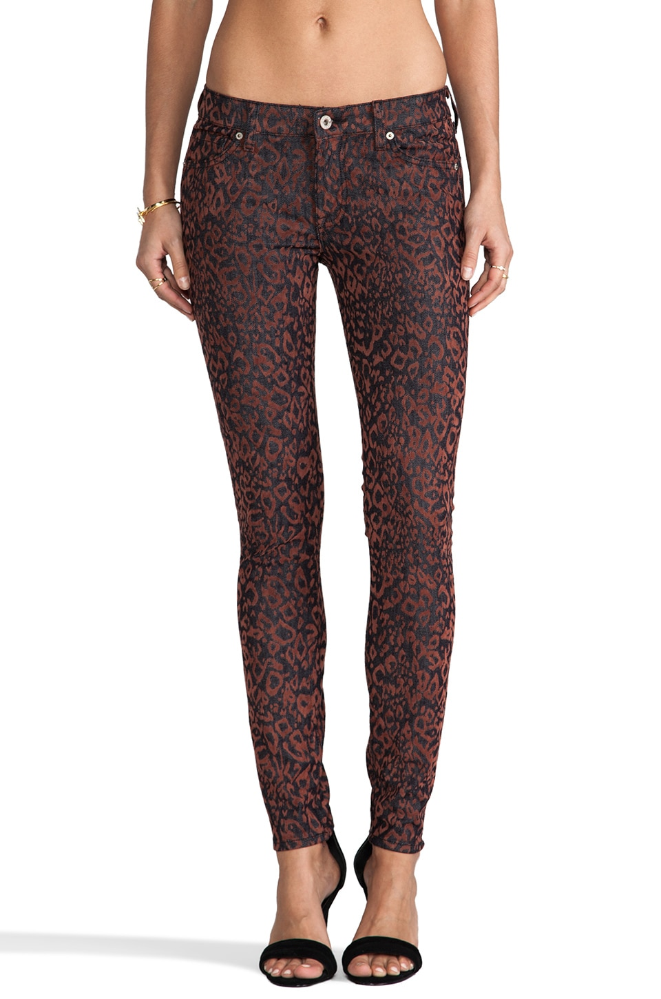 Dakota Collective Khloe Skinny in Flocked Leopard