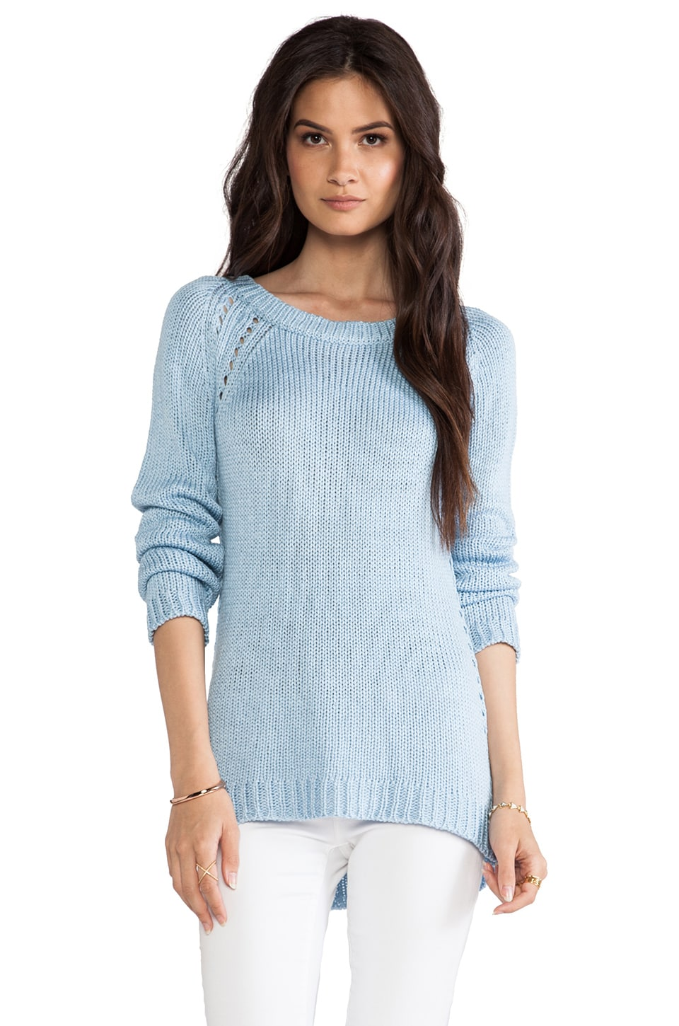 Dakota Collective Delhi Tube Yarn Pullover in Chambray