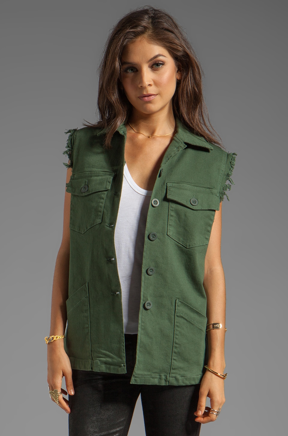 Dakota Collective Salt Vest in Olive