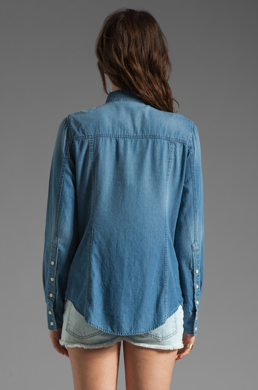Dakota Collective Ellery Denim Shirt in Light Marble