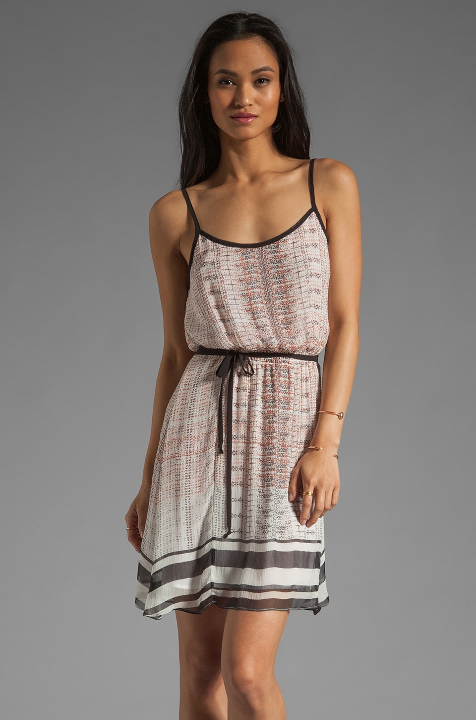 Da-Nang Short Tank Dress in Dots and Stripes