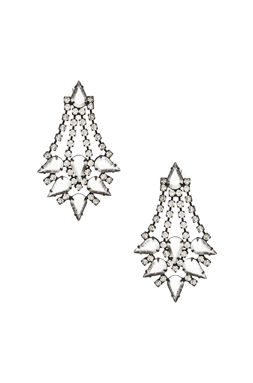 DANNIJO Antoinette Earrings in Black & White