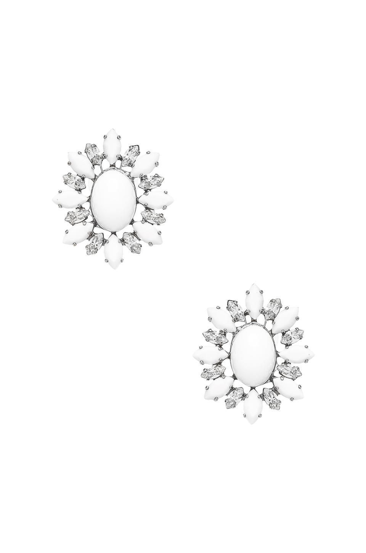 DANNIJO Jude II Earrings in Silver & White