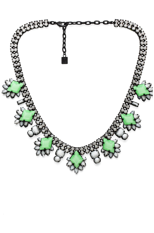 DANNIJO Vonna Necklace in Black & White & Neon Green