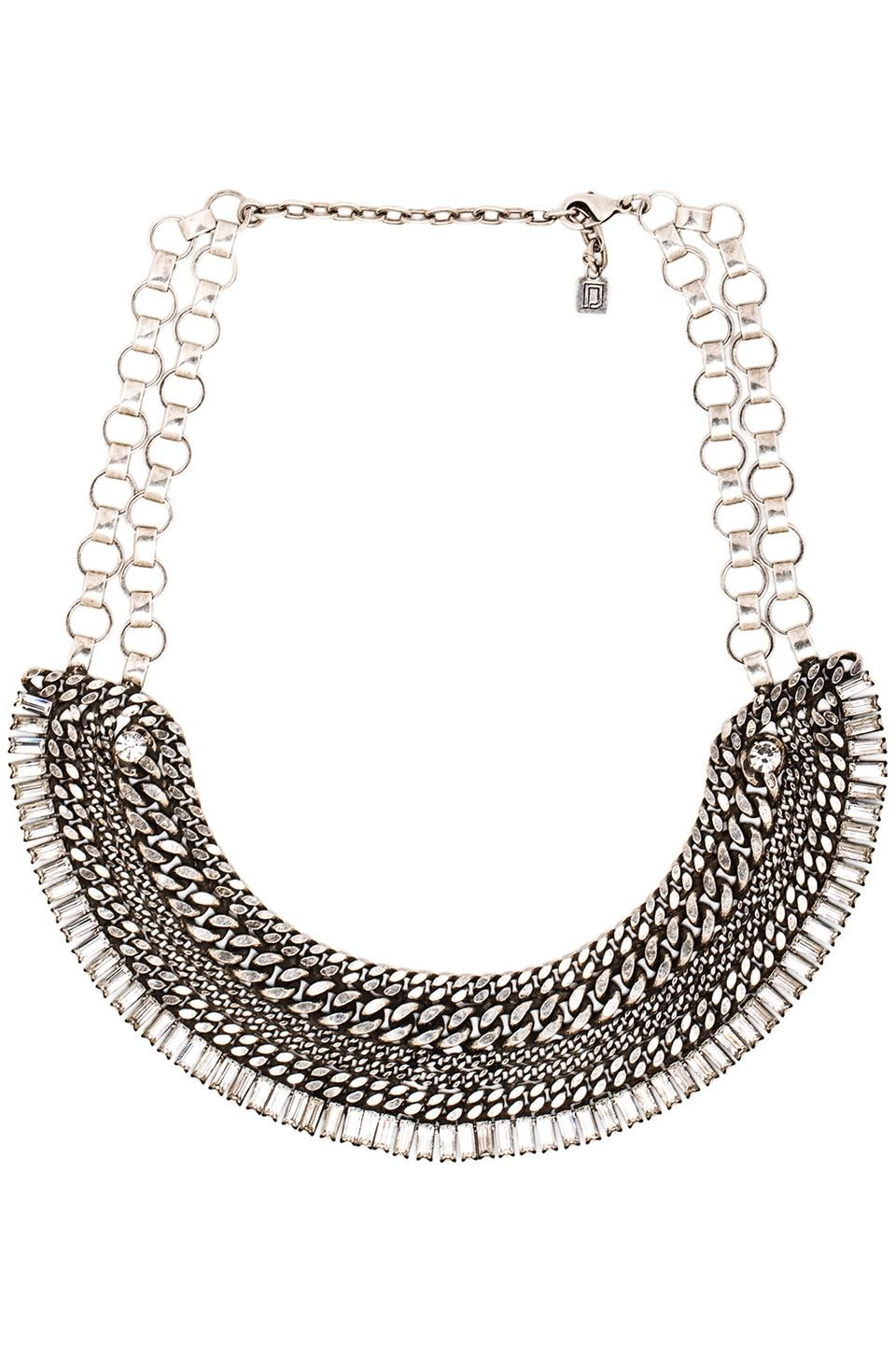 DANNIJO Lindley Necklace in Silver & Crystal