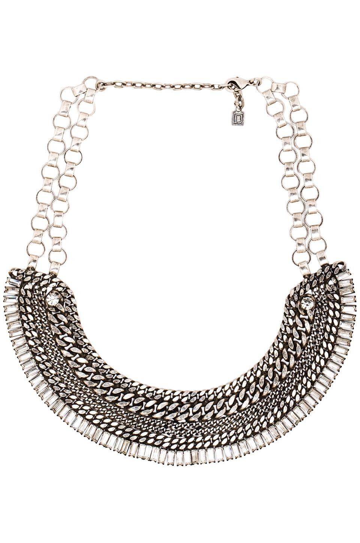 DANNIJO Lindley Necklace in Silver & Crystal