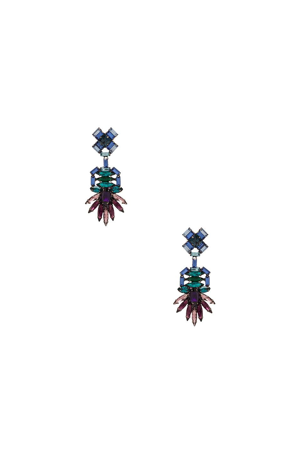 DANNIJO Becker Earrings in Blue Purple Multi