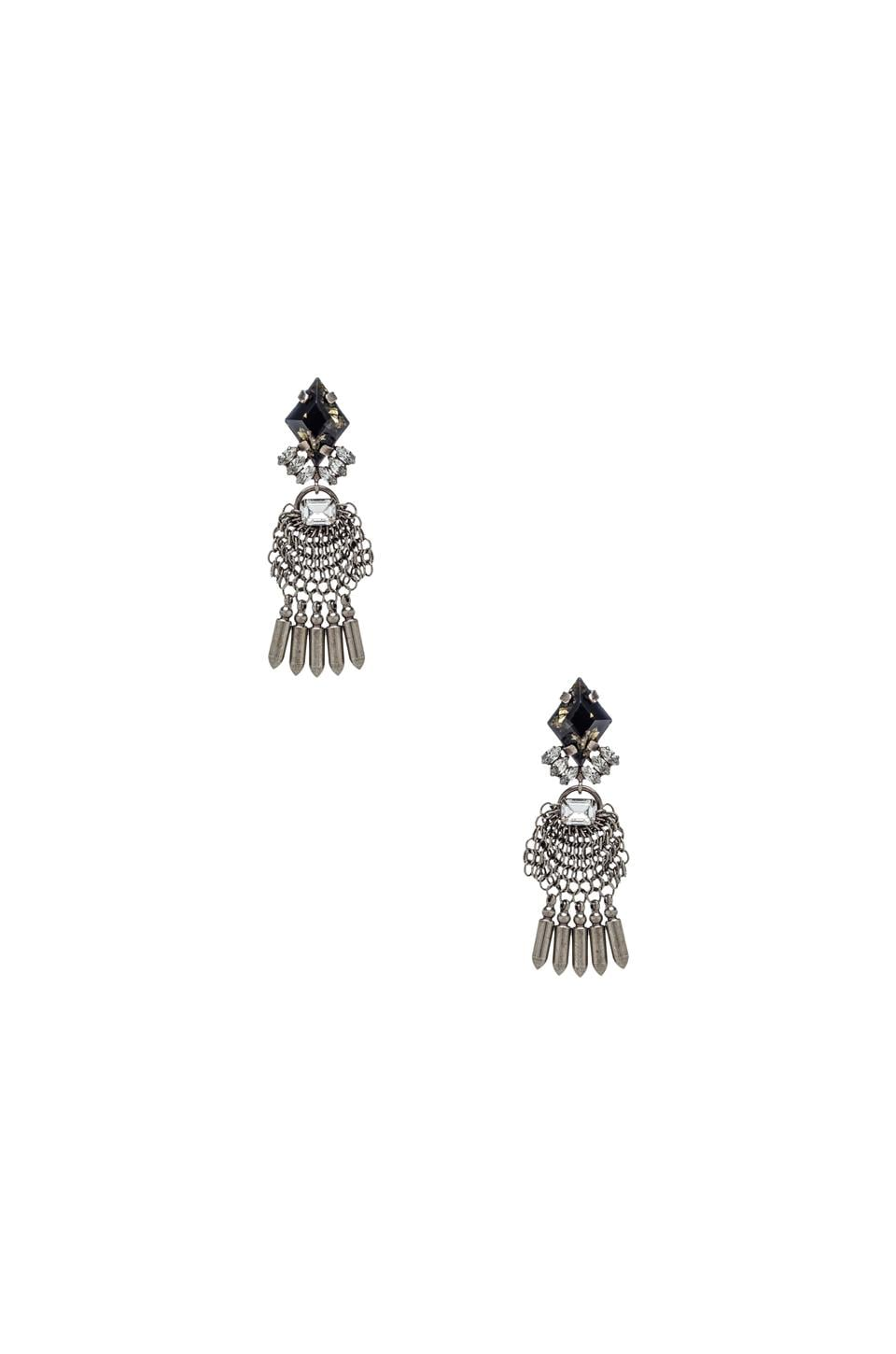DANNIJO Clea Earrings in Silver & Italian Nero