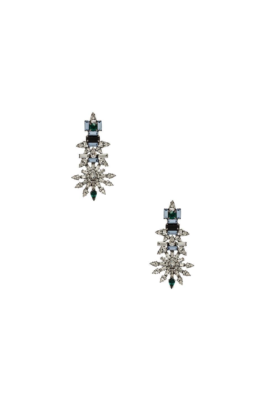 DANNIJO Everly Earrings in Silver & Crystal