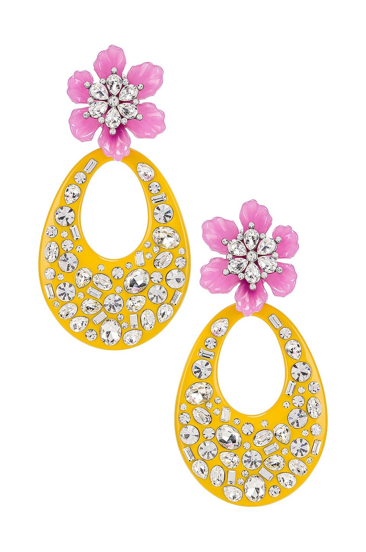 DANNIJO Blossom Earring in Yellow