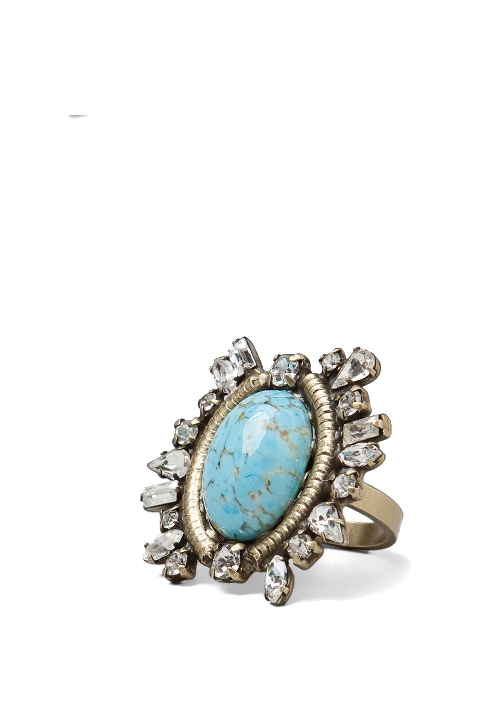 DANNIJO Mir Ring in Brass and Turquoise