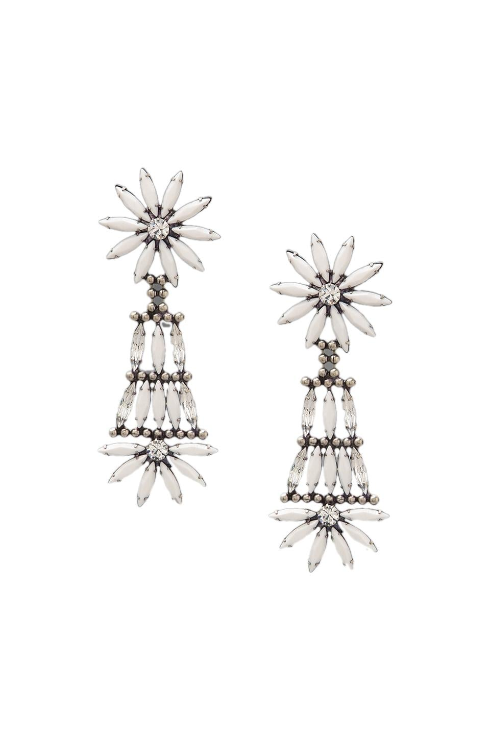 DANNIJO Lovisa Earrings in Ox Silver/White