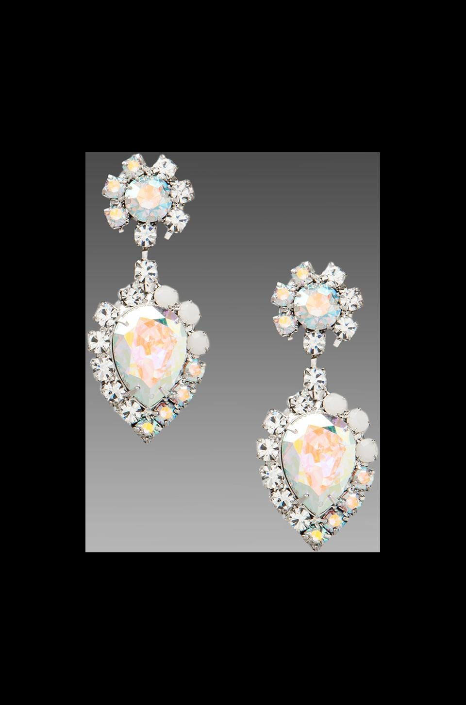 DANNIJO Mirabella Earrings in Clear/Crystal