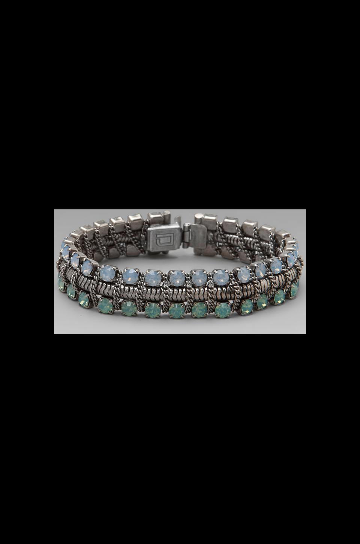 DANNIJO Giulia Bracelet in Ox Silver/Blue Opal/Green Opal