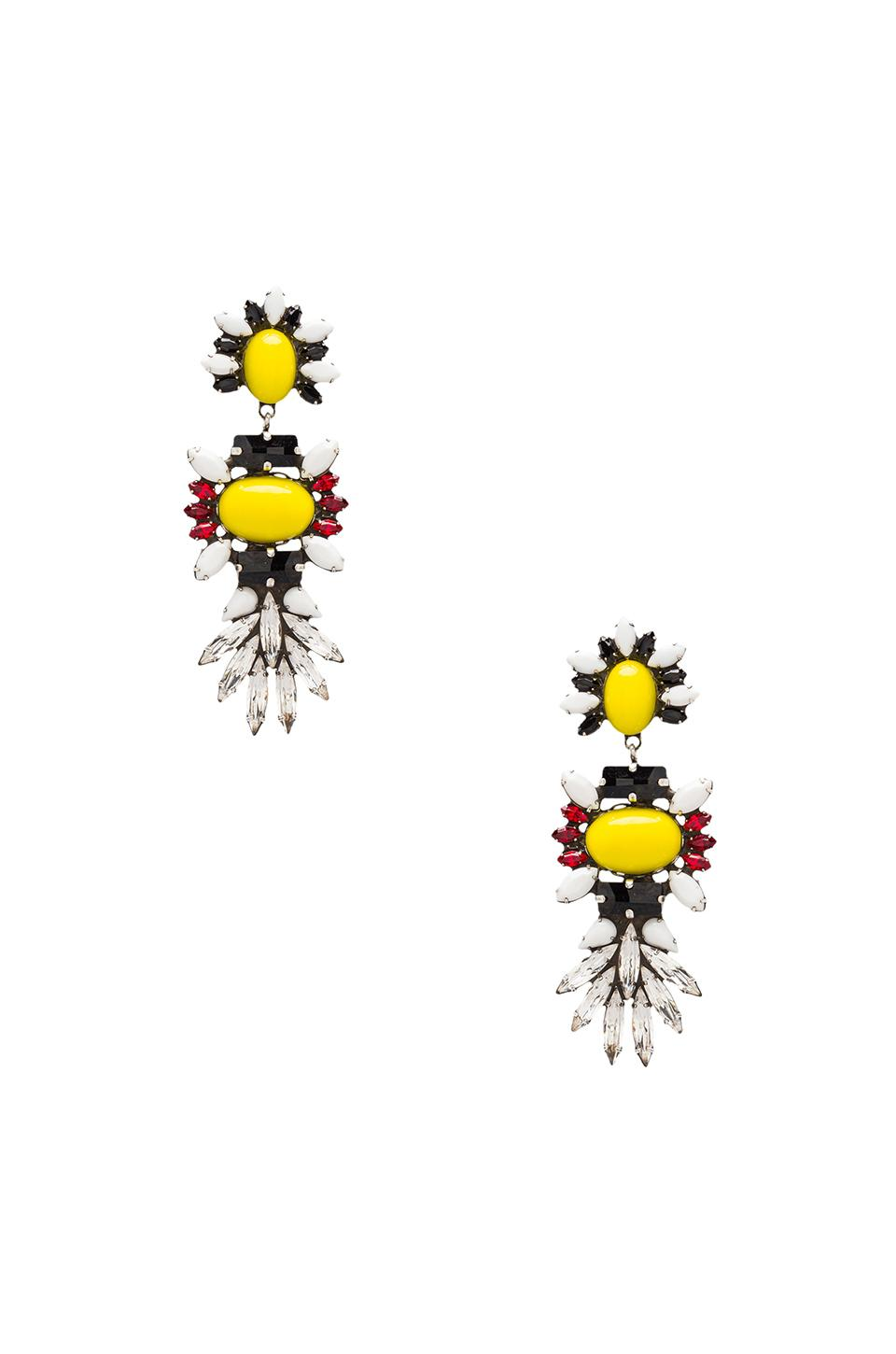 DANNIJO Cher Earrings in Yellow/White/Black/Red