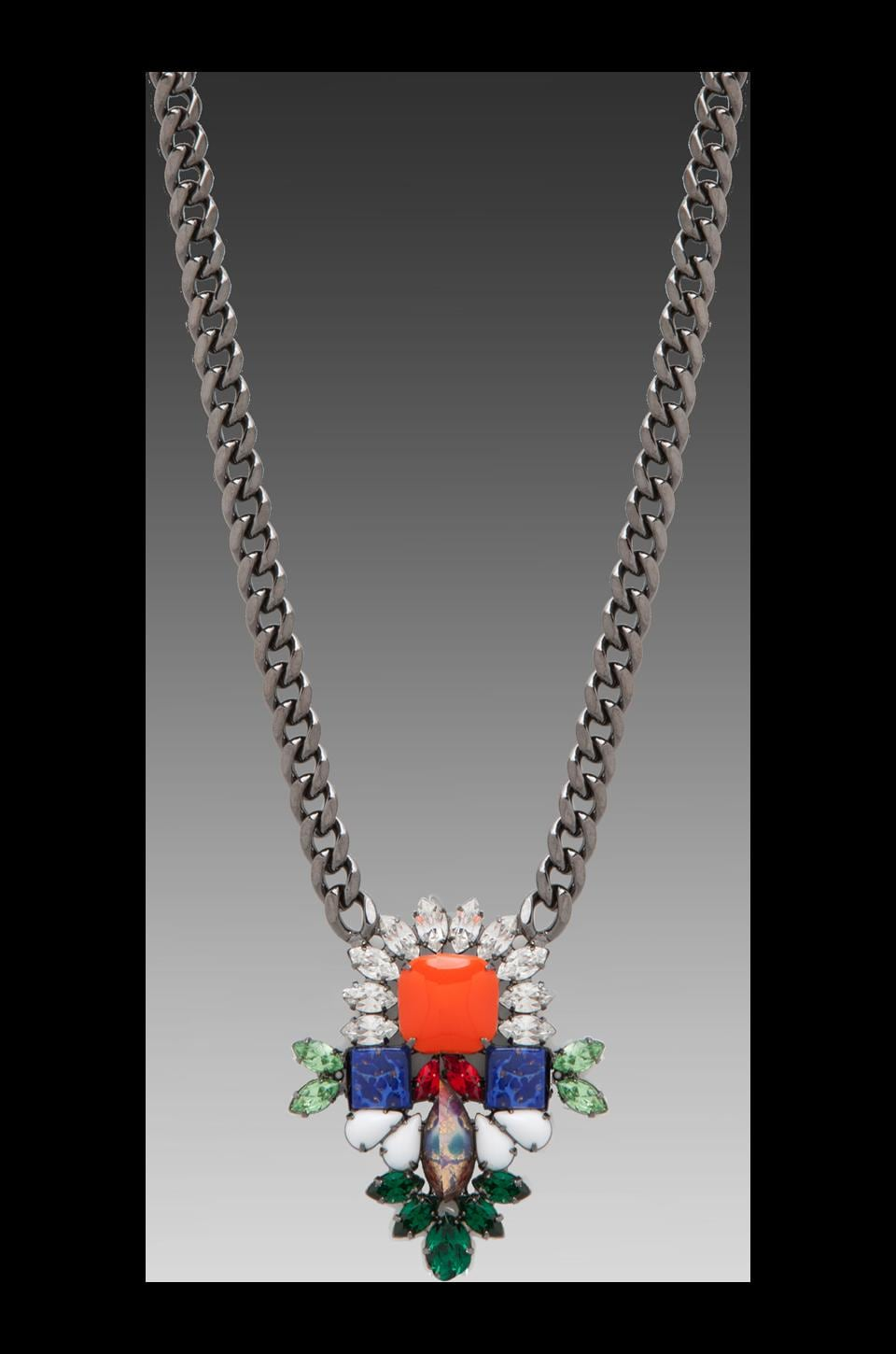 DANNIJO Phoebe Necklace in Orange/Multi