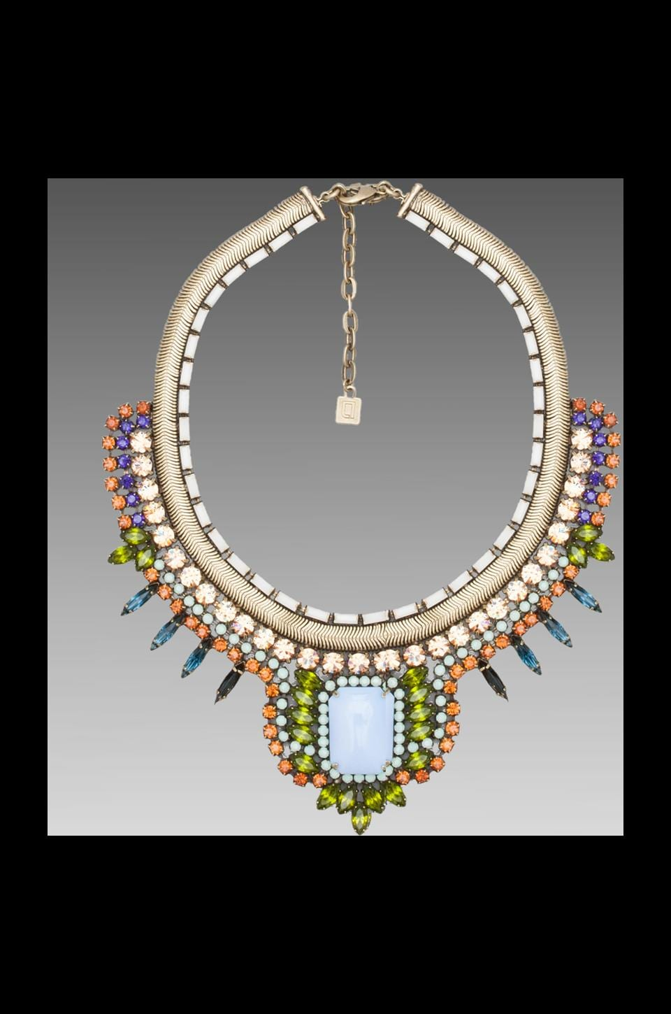 DANNIJO Eva Necklace in Mint/Multi