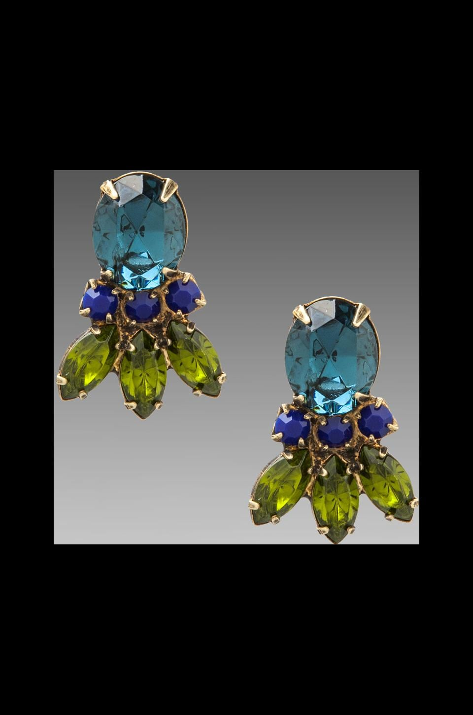 DANNIJO Joanie Earring in Blue/Green