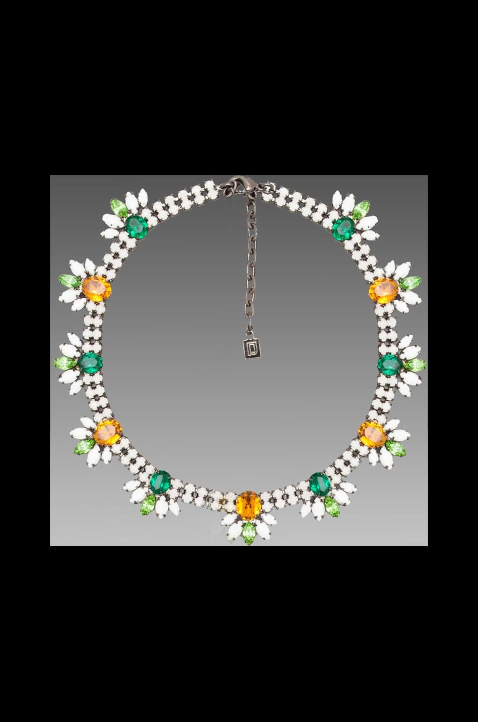DANNIJO Erika Necklace in White/Green/Orange