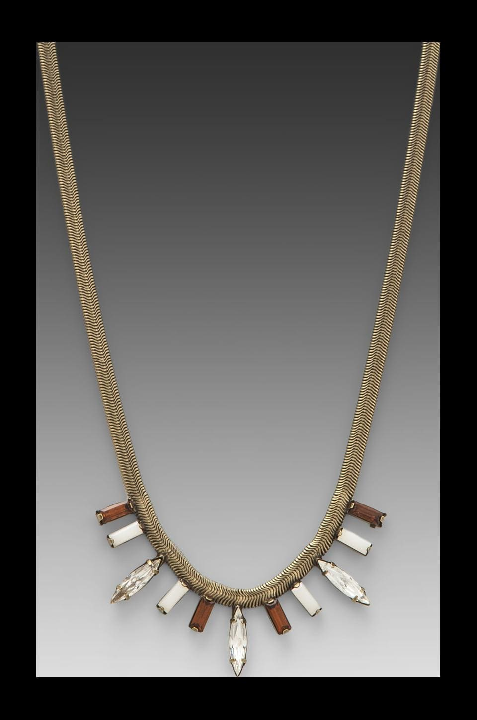 DANNIJO Serena Necklace in Ox Brass