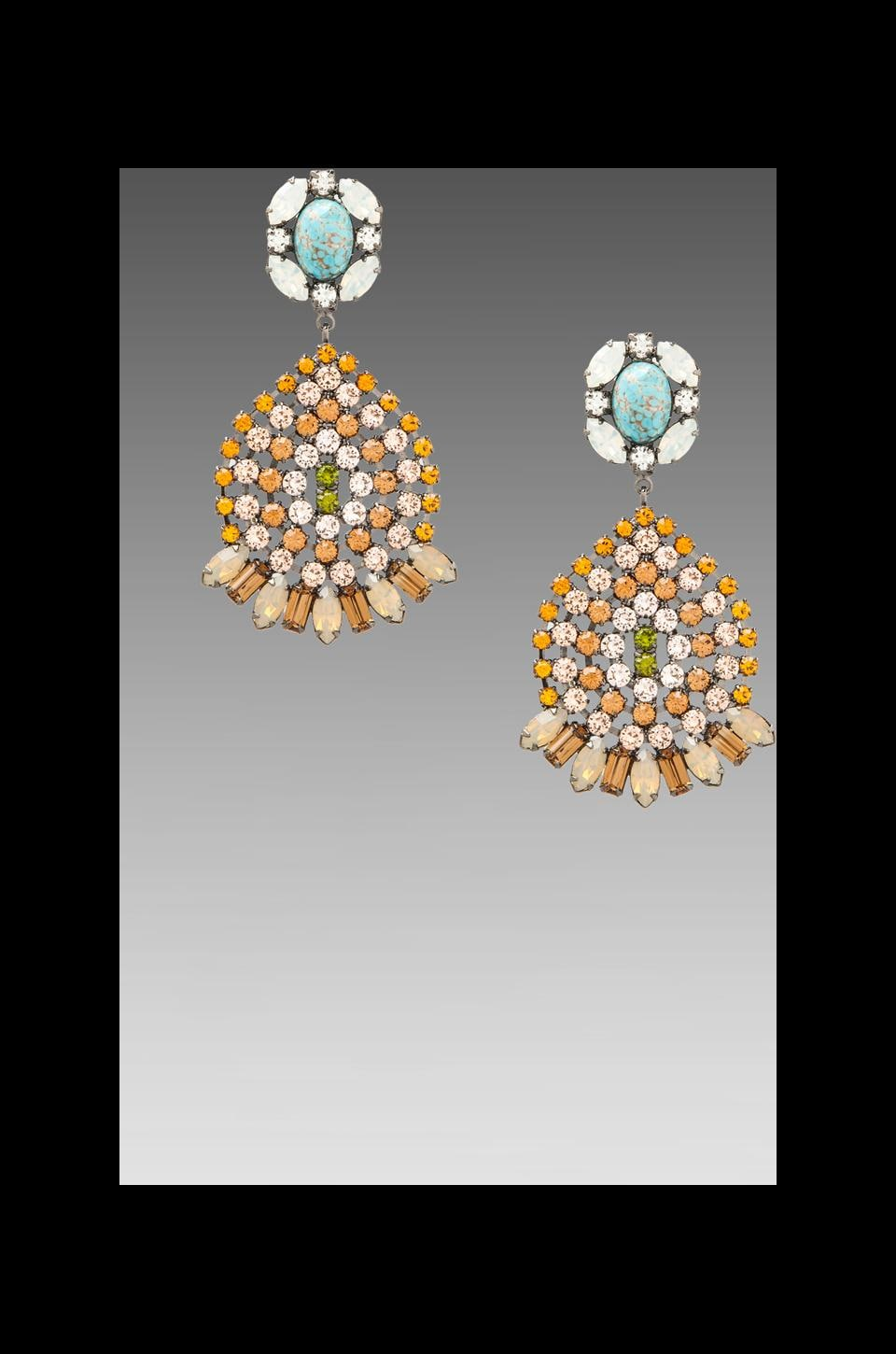 DANNIJO Siobhan Earrings in Topaz