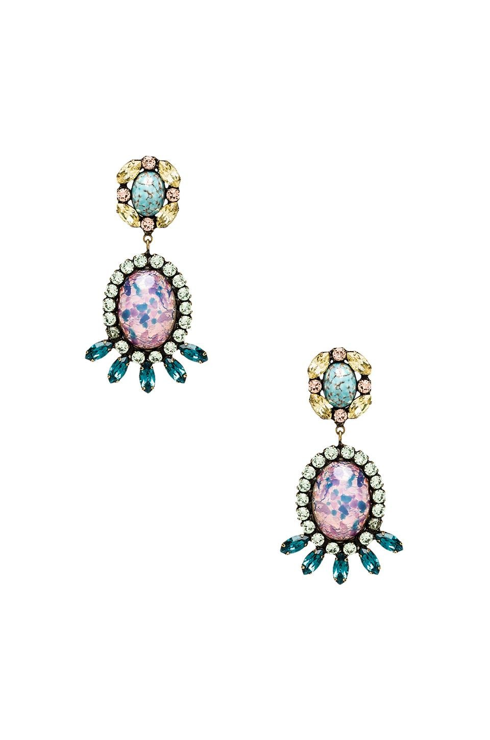 DANNIJO Paz Earrings in Iridescent Glass Pink