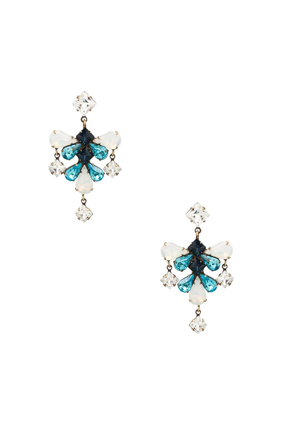 DANNIJO Zelda Earrings in Blue/White