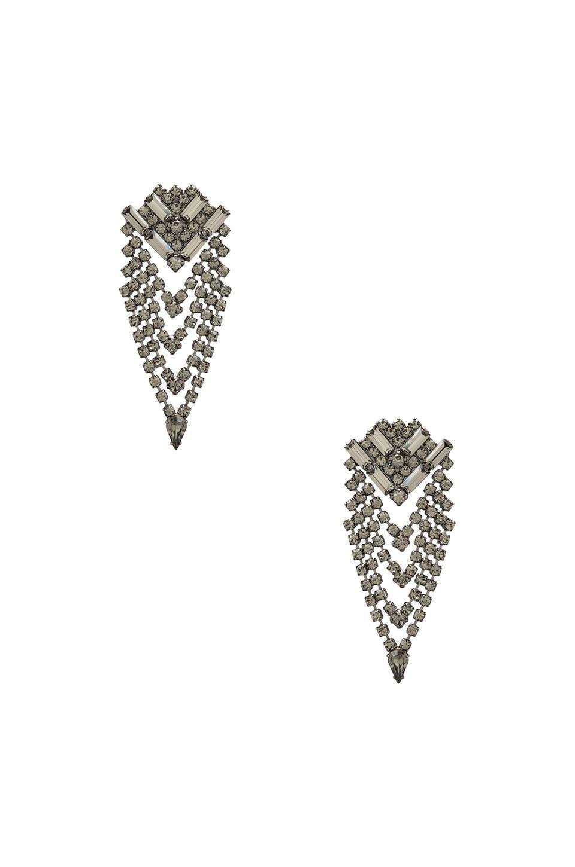 DANNIJO Mariella Earrings in Gunmetal/Black Diamond