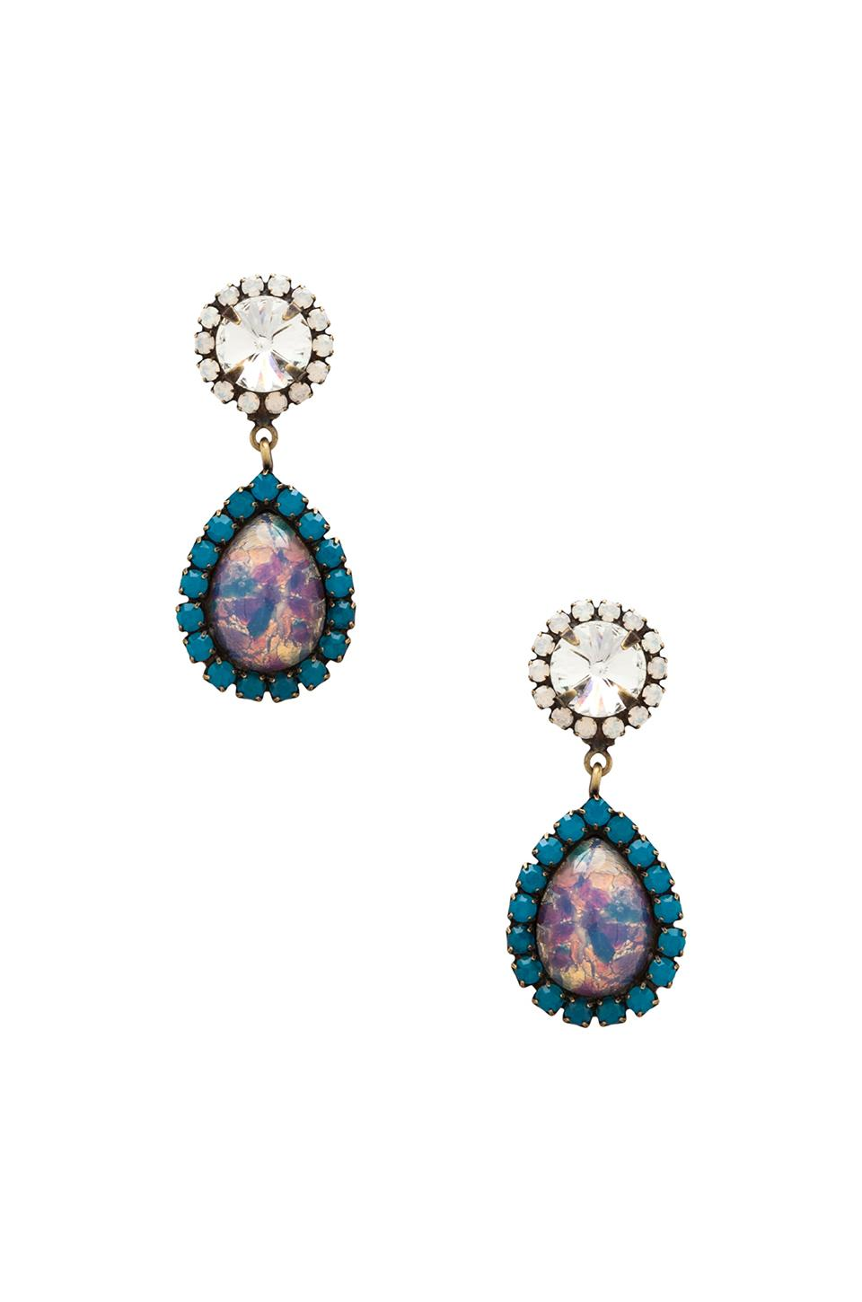 DANNIJO Monica Earrings in Iridescent