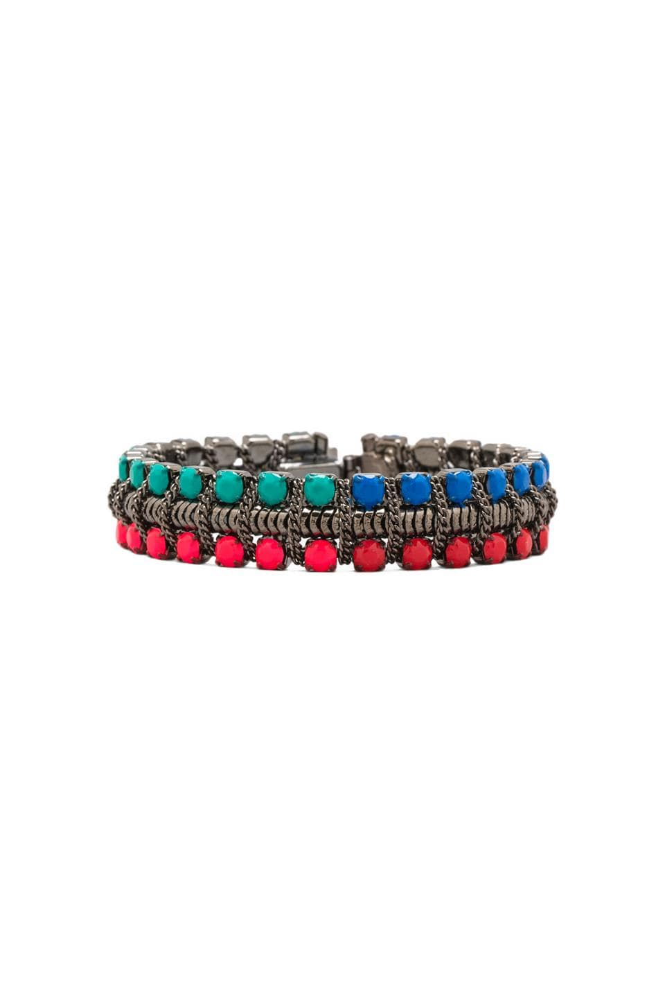 DANNIJO Giulia Bracelet in Gunmetal/Neon Pink/Red/Blue/Green