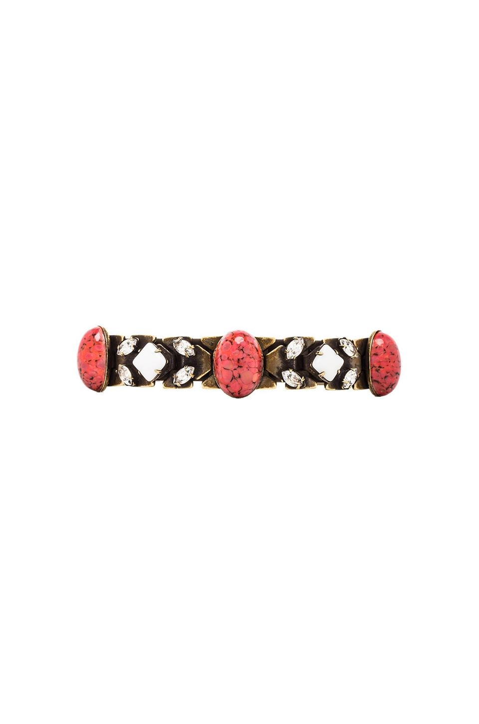 DANNIJO Jessa Cuff in Ox Brass & Coral & Clear