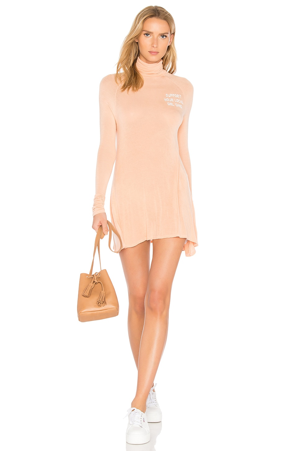 Daydream Nation Sleepy Central Perk Girl Gang Dress in Coral
