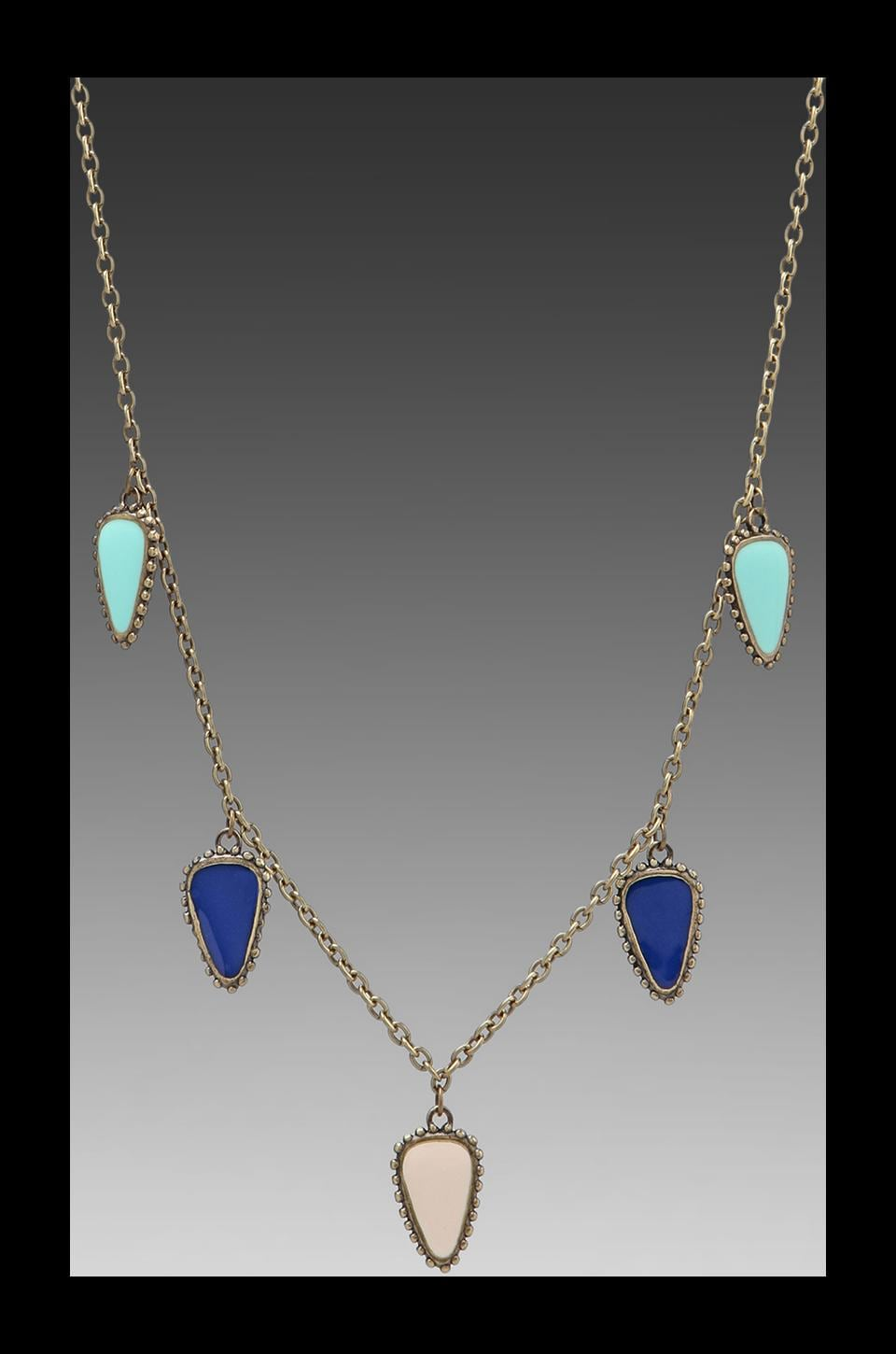 Dream Collective Small Arrowhead Amulet Necklace in Turquoise/Cobalt/White