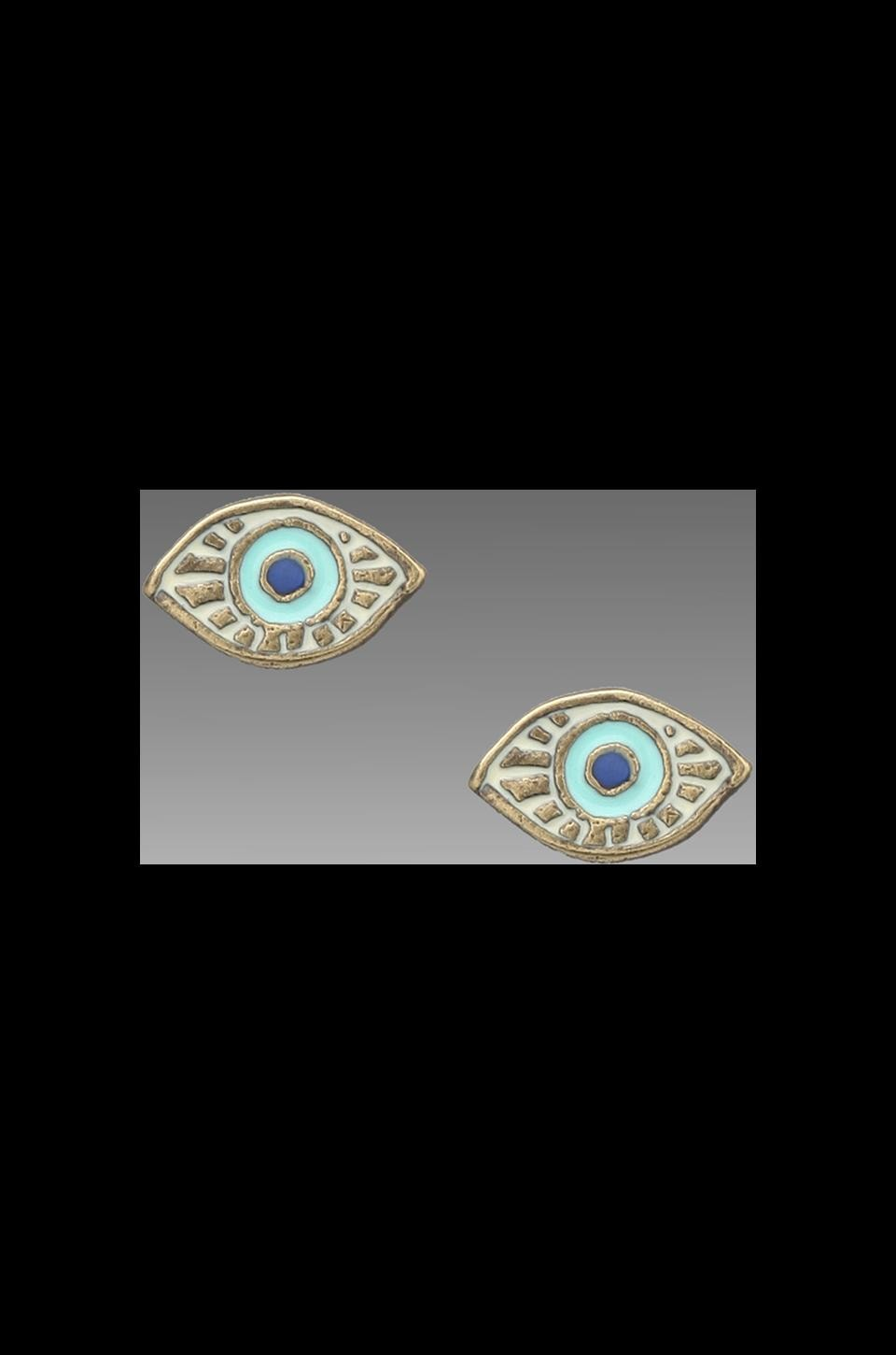 Dream Collective Evil Eye Stud Earrings in Turquoise