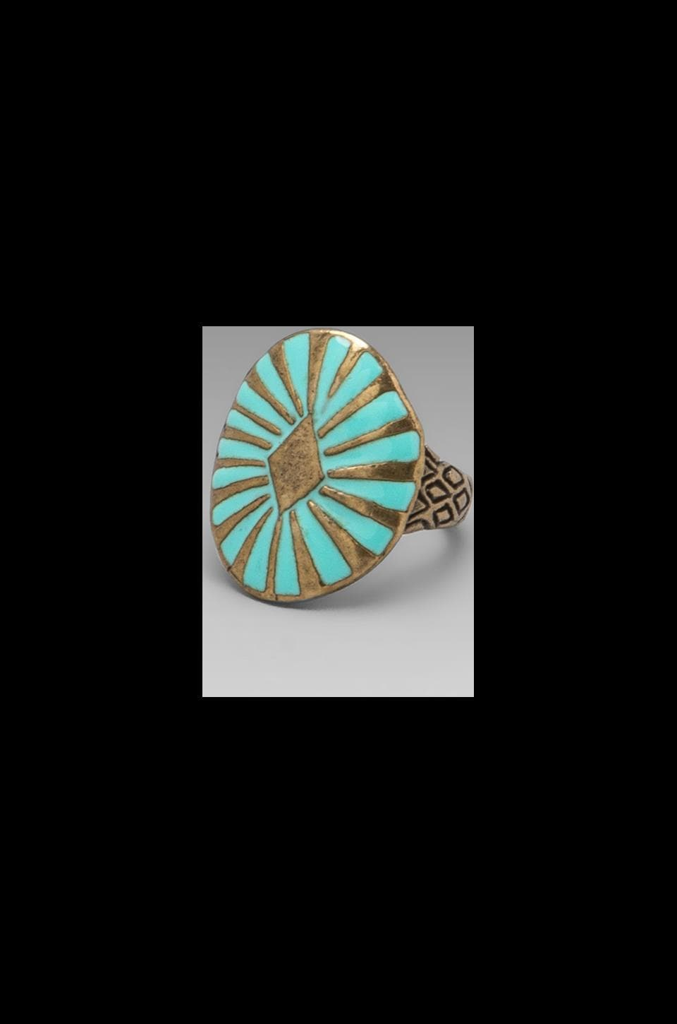 Dream Collective Sun Burst Ring in Turquoise