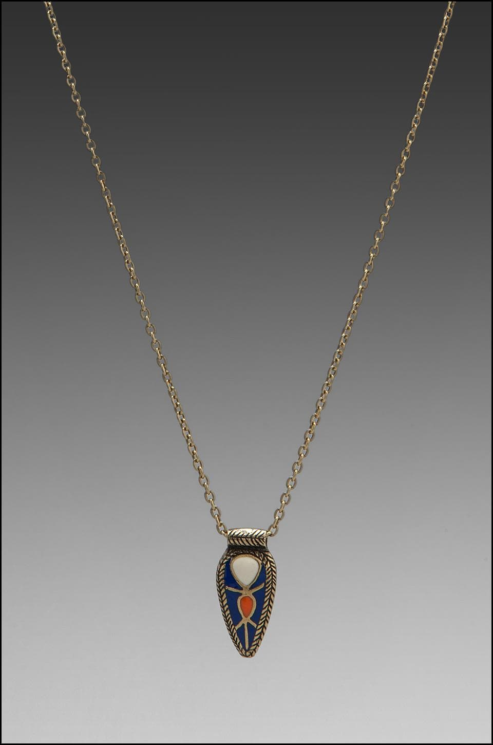 Dream Collective Scarab Pendant in Cobalt