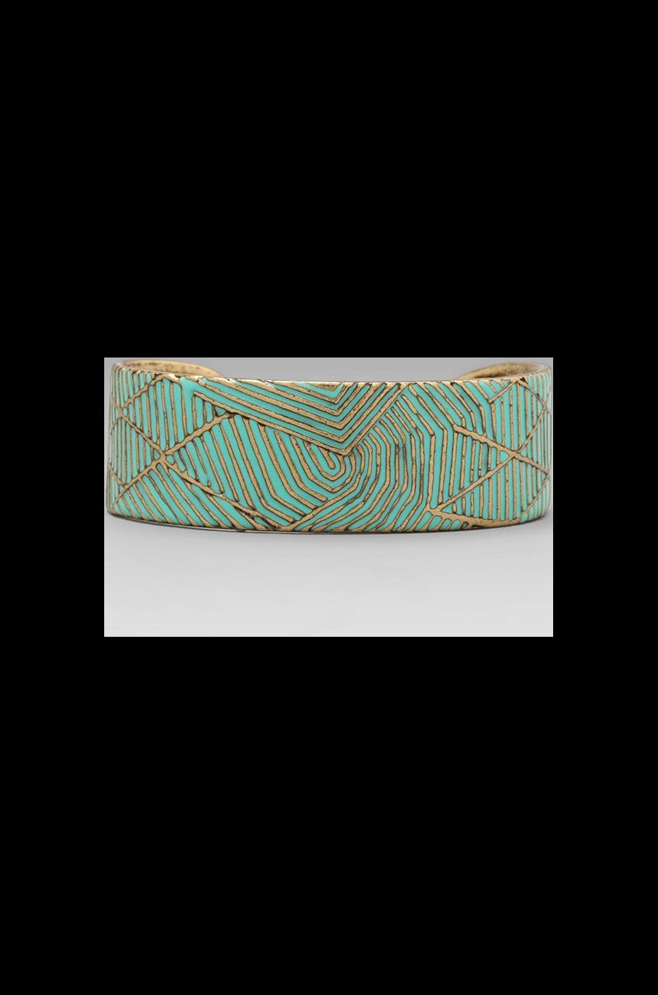 Dream Collective Rio Wide Cuff in Turquoise