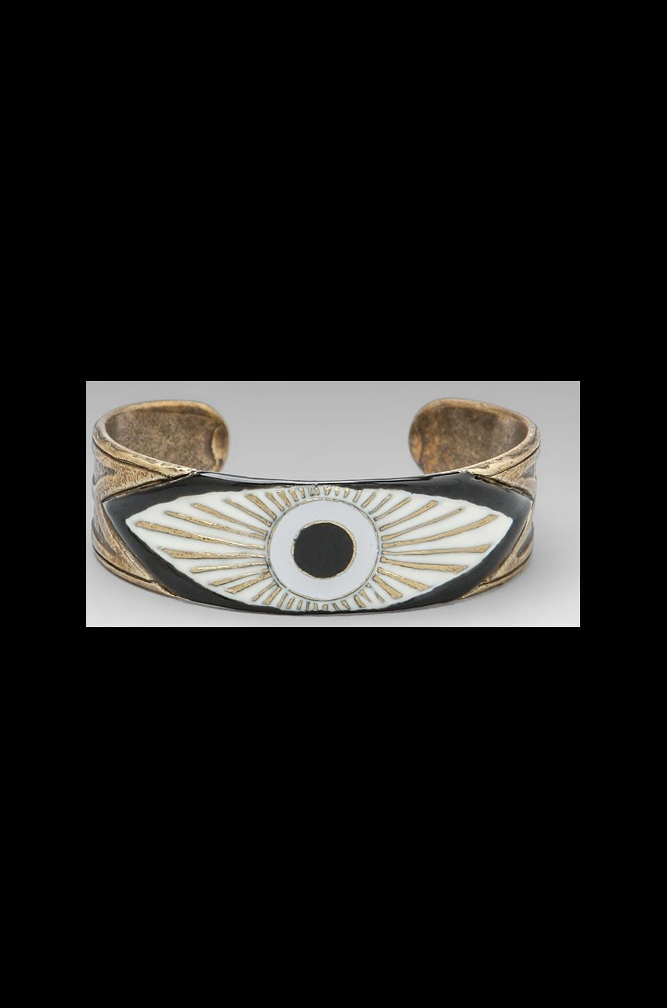 Dream Collective Evil Eye Cuff in Black/White Combo