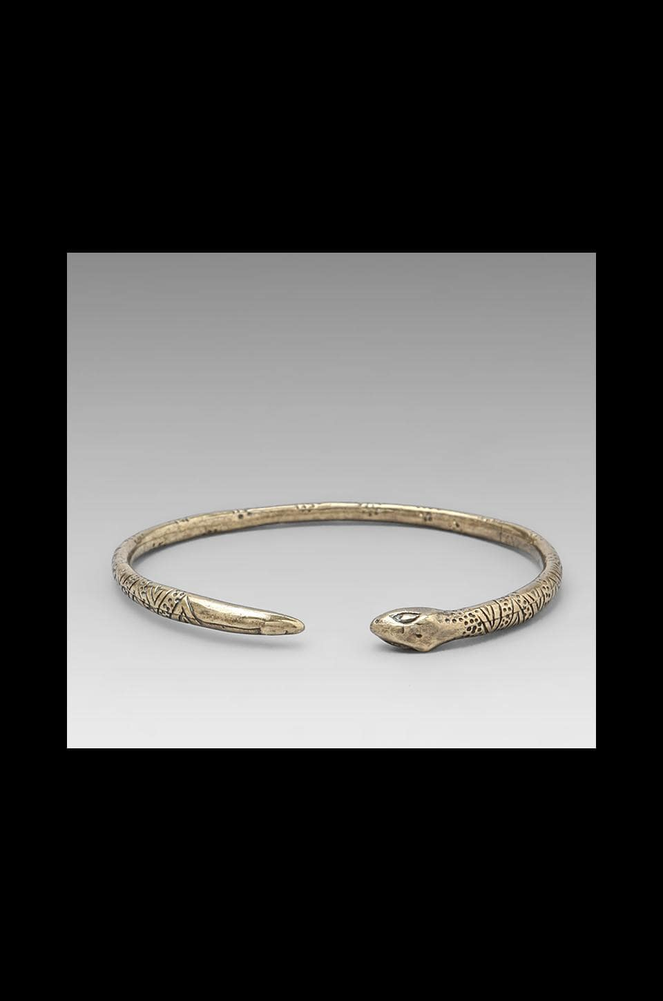 Dream Collective Snake Bangle in Brass