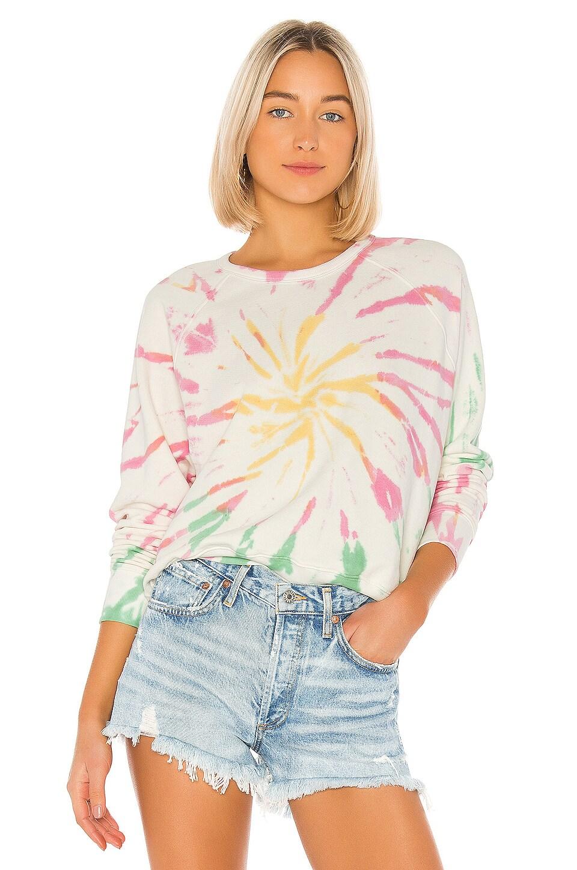 DAYDREAMER X REVOLVE Tie Dye Varsity Crew Sweatshirt in Pastel Tie Dye