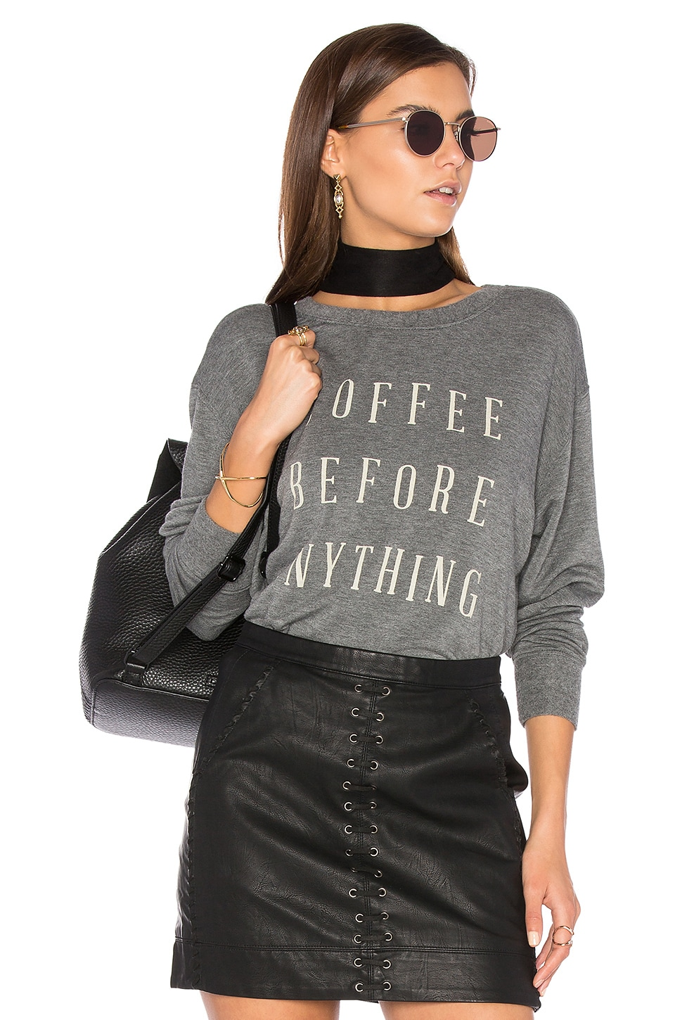 Coffee Before Anything Sweatshirt by DAYDREAMER