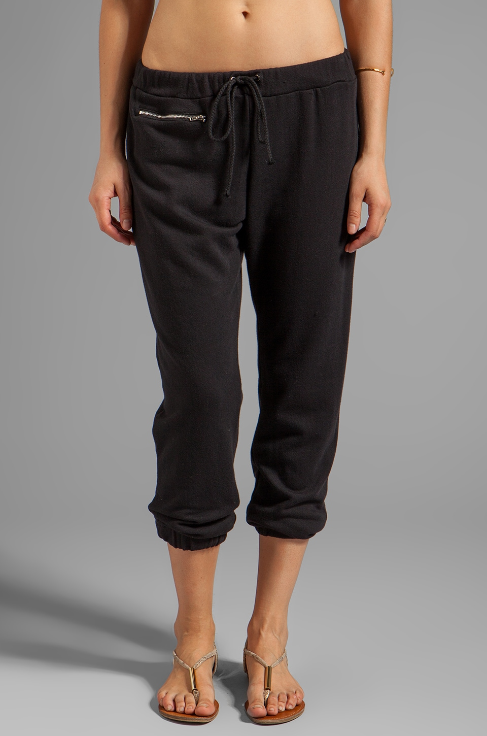 DAYDREAMER Zip Pocket Sweatpants in Black