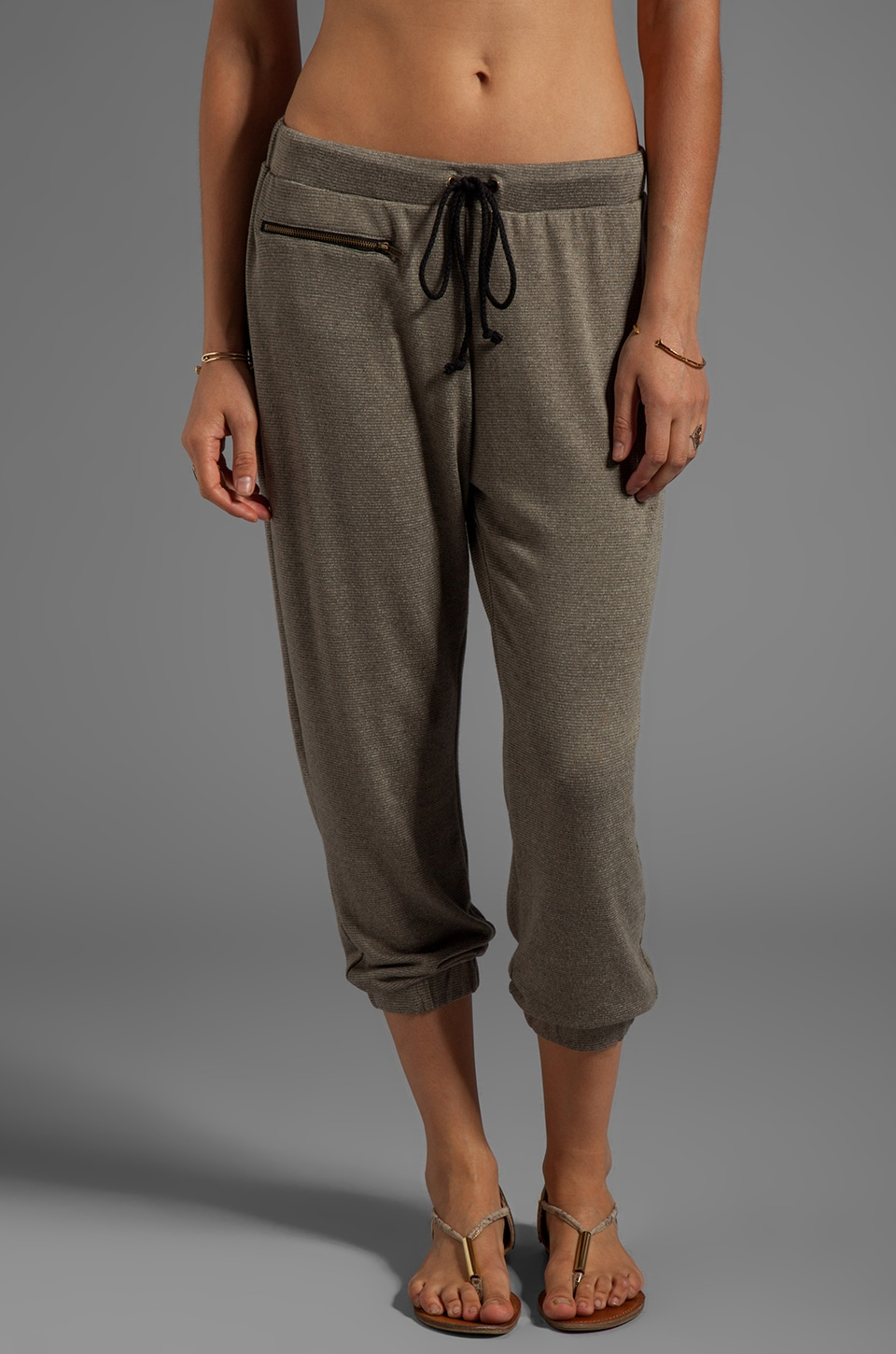 DAYDREAMER Zip Pocket Sweatpants in Army