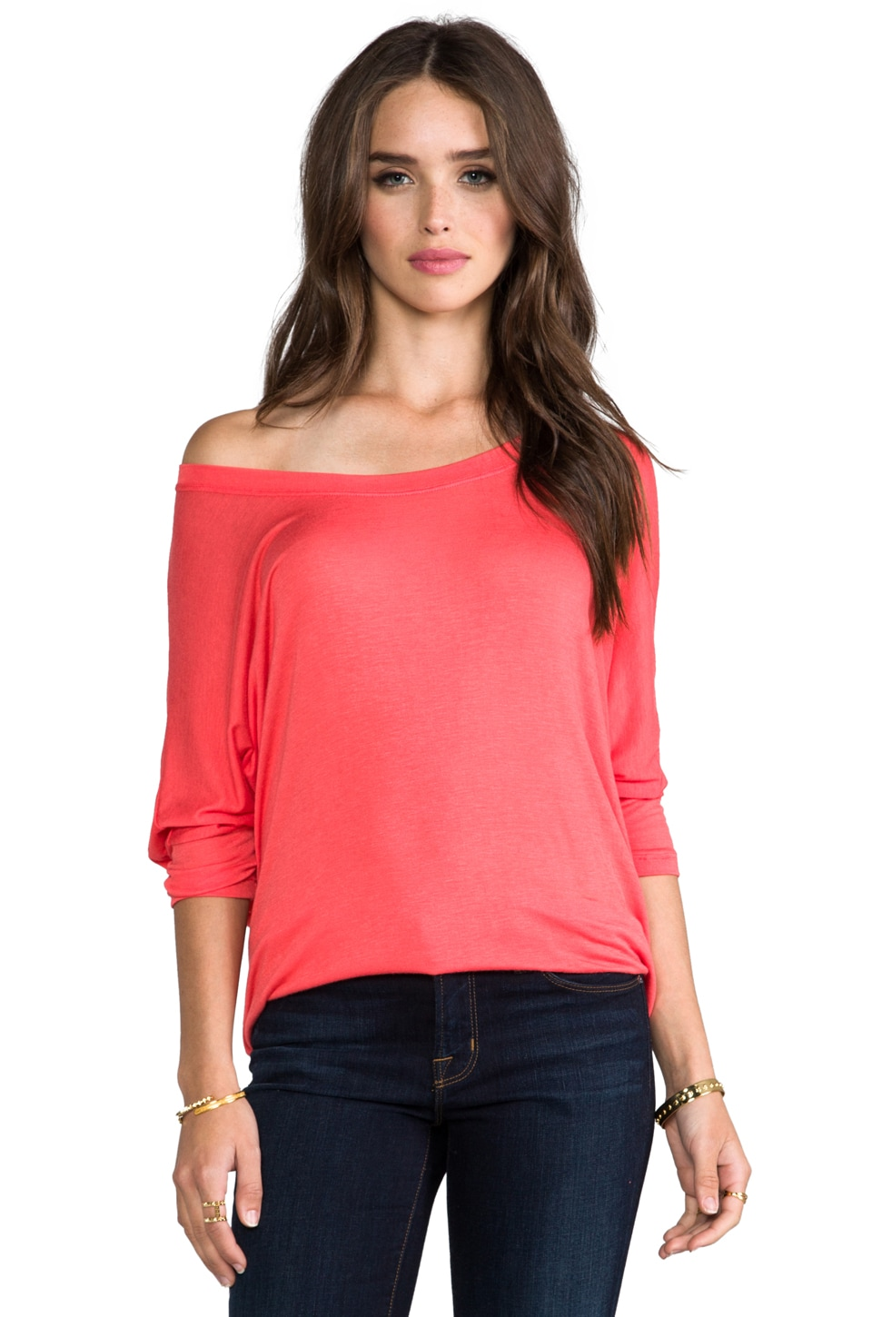DAYDREAMER Dolman Tee in Coral