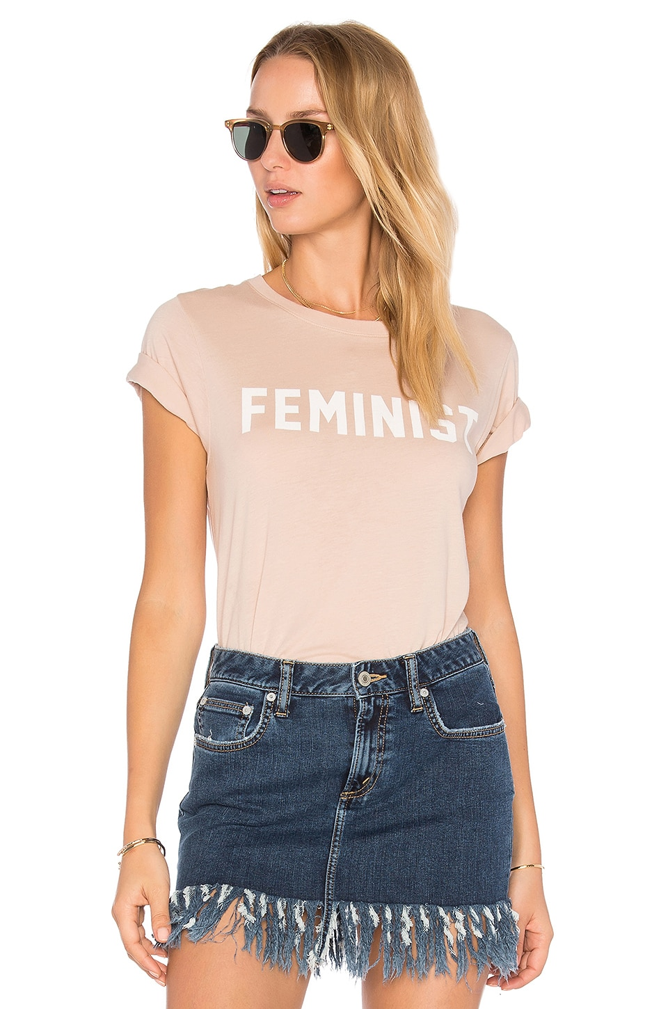 DAYDREAMER Feminist Tee in Toasted Almond